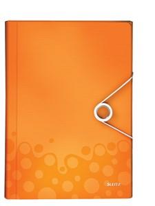 Obrázek Spisovka s přihrádkami Leitz WOW - oranžová