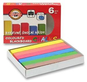 Obrázek Křídy školní - sada 6 barev