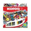 Obrázek Pastelky trojhranné Kores Mandalas - 50 barev