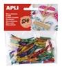 Obrázek Dřevěné kolíčky APLI mix barev / 45 ks