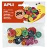 Obrázek Dřevěné knoflíky APLI mix barev / 30 ks